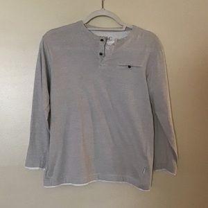 Boys PD&C long sleeve gray and white size medium